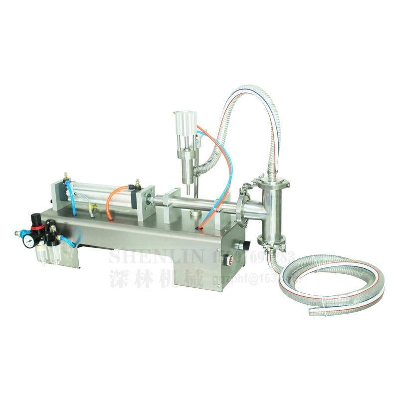 Įpylimo mašinos skysčio užpildas pneumatinis 0.6MPa 100/300 / 500ml vandens butelių pildymo mašinos padažo pakavimo gėrimų užpildas