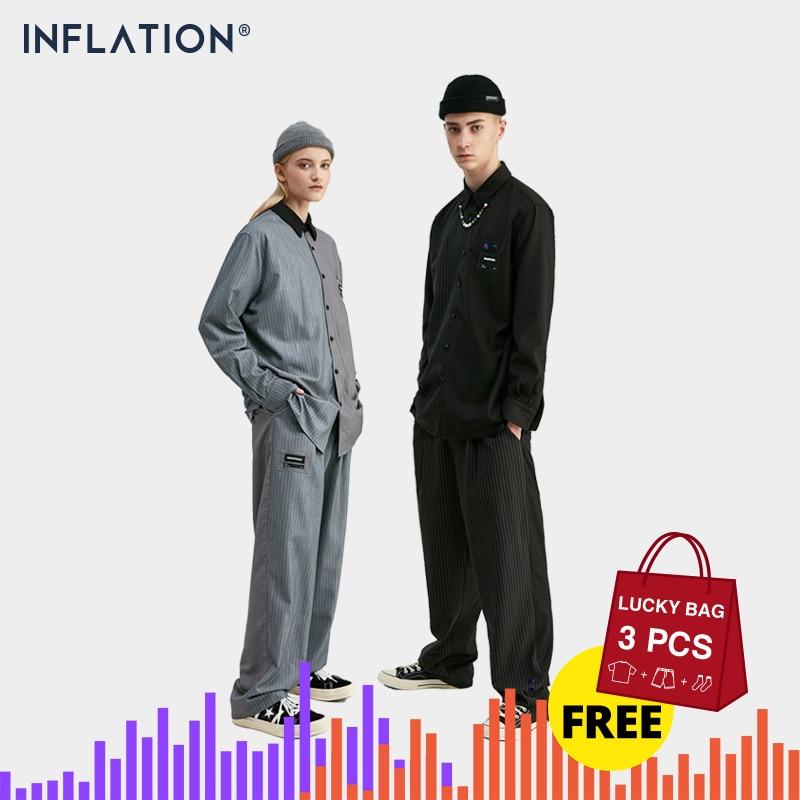 INFLATION New Arrival Luxury Men Blazer Loose Fit Fashion Brand High Quality Streetwear Men Suit Terno MasculinoBlazers Men