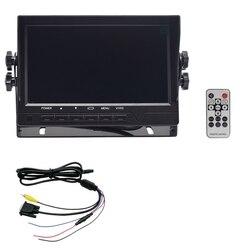 7 Cal wyświetlacz TFT LCD przewodowy Monitor samochodowy wyświetlacz HD AV1 VGA lusterko wsteczne System parkowania monitory