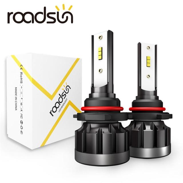 Roadsun 6000K H4 LED H7 H1 HB4 H11 HB3 CSP 칩 자동차 헤드 라이트 전구 72W 12000LM 자동차 스타일링 9005 9006 led automotivo