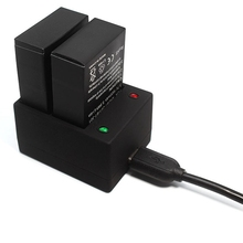 цена на Usb Dual Port Charger for Gopro Hero 3 3+ Ahdbt 301 302 Battery Charger Action Accessories