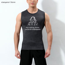Stop Making Drama Quotes Grappige Mannen Sport Vest Zomer Tumblr Grunge Mode Sportkleding Tank Top Mannen Grafische Mouwloze Outfits(China)