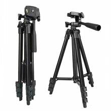 DSLR Camera Tripod Stand Fotografia Foto Video Mobile di Alluminio Treppiedi Del Basamento Per Smartphone Treppiede Portatile Anello di Luce Monopiede