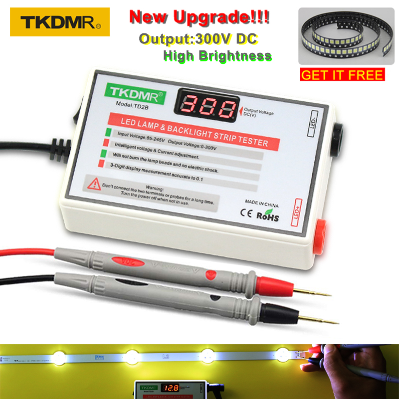 TKDMR LED מנורת חרוז תאורה אחורית בוחן לא צריך לפרק LCD מסך כל LED רצועות אורות תיקון מבחן פלט 0 -300V