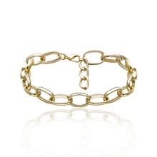 New Fashion Simple Link Chain Bracelets For Women Personality Copper Alloy Minimalism Bracelet Jewelry