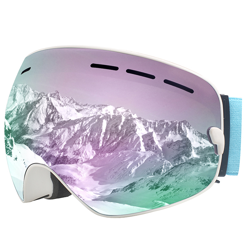 X-TIGER Ski Goggles For Men and Women Anti-fog UV Protection Spherical REVO Mirror Lens with Over Glasses OTG For Skiing Goggles and Snowboard