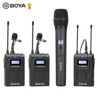 BOYA BY WM8 Pro WM4 Pro K2 K1 Mark II UHF Wireless Microphone System Omni directional Lavalier Microphone for ENG EFP DV DSLR