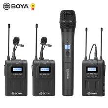 BOYA BY WM8 Pro WM4 Pro K2 K1 UHF Беспроводная микрофонная система всенаправленный петличный микрофон для ENG EFP DV DSLR