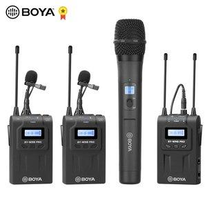 Image 1 - BOYA BY WM8 Pro WM4 Pro K2 K1 UHF Беспроводная микрофонная система всенаправленный петличный микрофон для ENG EFP DV DSLR