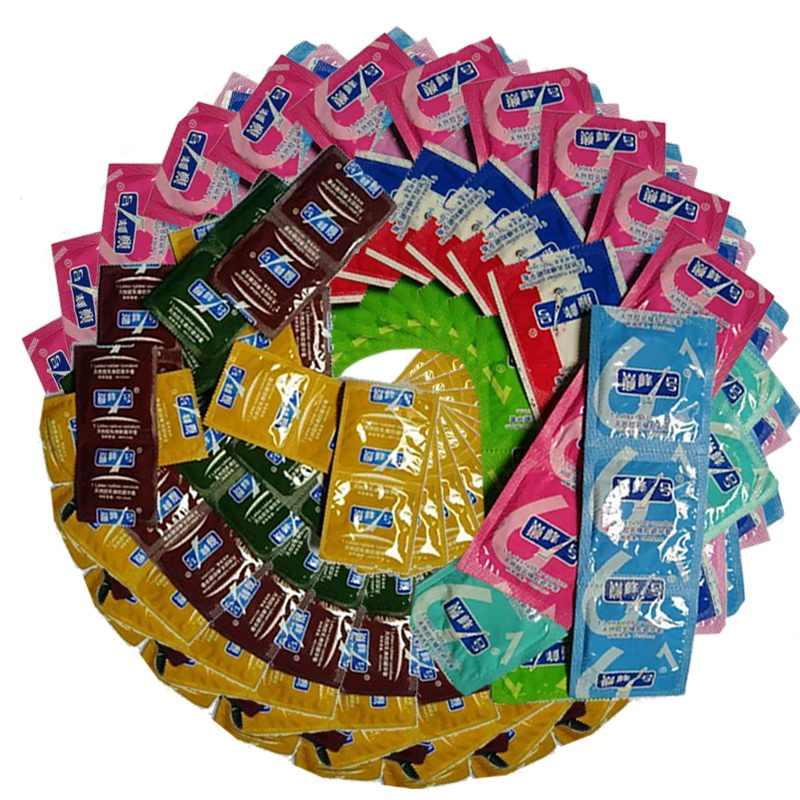 100 Pcs Berbeda Gaya Kondom Dewasa Besar Minyak Kondom Pria Penis Lengan Mainan Seks Produk Penis