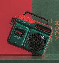 Di modo MOCA Altoparlante Senza Fili di Bluetooth Retro Mini Altoparlante Portatile Bluetooth4.2 Wireless Retro del Giocatore di Musica di Cinghia Del Telefono di Chiamata