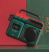 Fashion MOCA Wireless Bluetooth Speaker Retro Mini Portable Speaker Bluetooth4.2 Wireless Retro Music Player Strap Phone Call