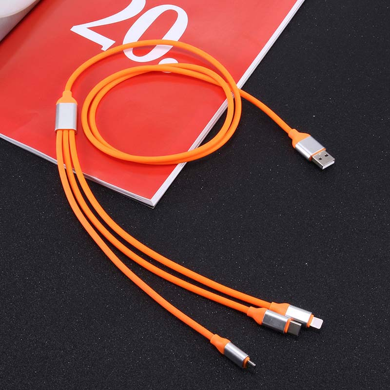 3 In 1 1.2m USB Cable Micro USB Type-C For Lightning Charging Cables For IPhone Samsung Xiaomi VDX99
