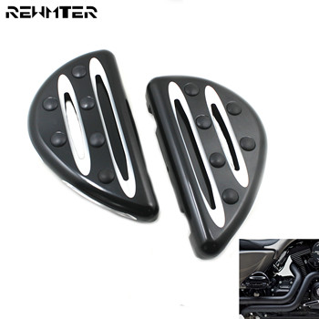 Motorcycle Footpegs CNC Male Mount Floorboard Pedal Footrest Black High Quality Foot Pegs For Harley Touring Dyna Road Glide