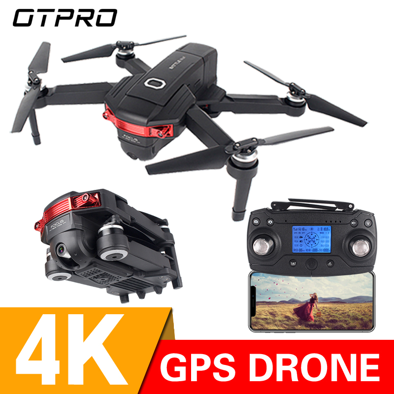 OTPRO 4K GPS 1080P WIFI FPV Foldable Selfie Drone With Altitude Hold Mode RC Quadcopter Helicopter RTF Toys Gift