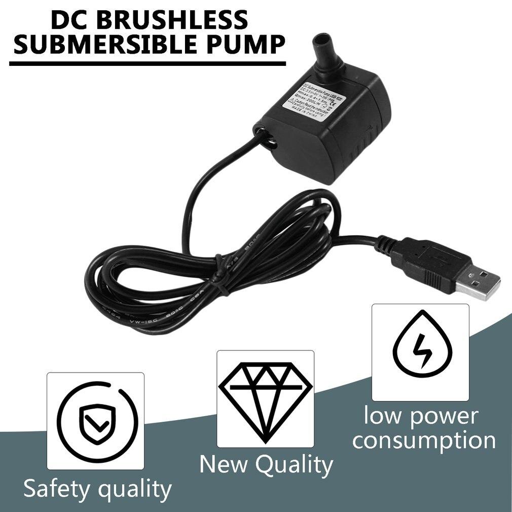 Dropshipping DC 3.5-9V 3W USB Brushless Submersible Water Pump USB Mini Aquarium Landscape Fountain Fish Pond Tank Pump