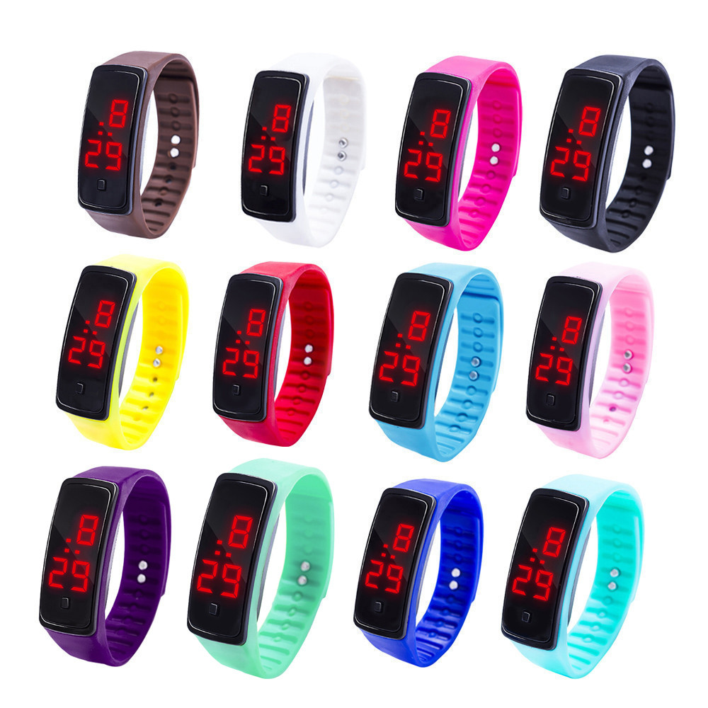 LED Digital Watches Children's Watch Students Kids Casual Silicone Sport Bracelet Watch Electronic Wristwatch For Boys Girls