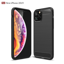 Silicone Case For Iphone 11 2019 On Iphone 11 Pro Max Carbon Fiber Phone Case Cover For Iphone Xr X Xs Max 8 7 6 6s Plus Cases