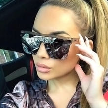 vintage Oversized Square Sunglasses Men Women luxury brand F