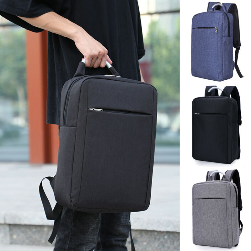 Men' School Backpacks Anti-theft USB Charge Laptop Bag Waterproof Laptop Backpack Schoolbag Travel Bag Shoulder Bag