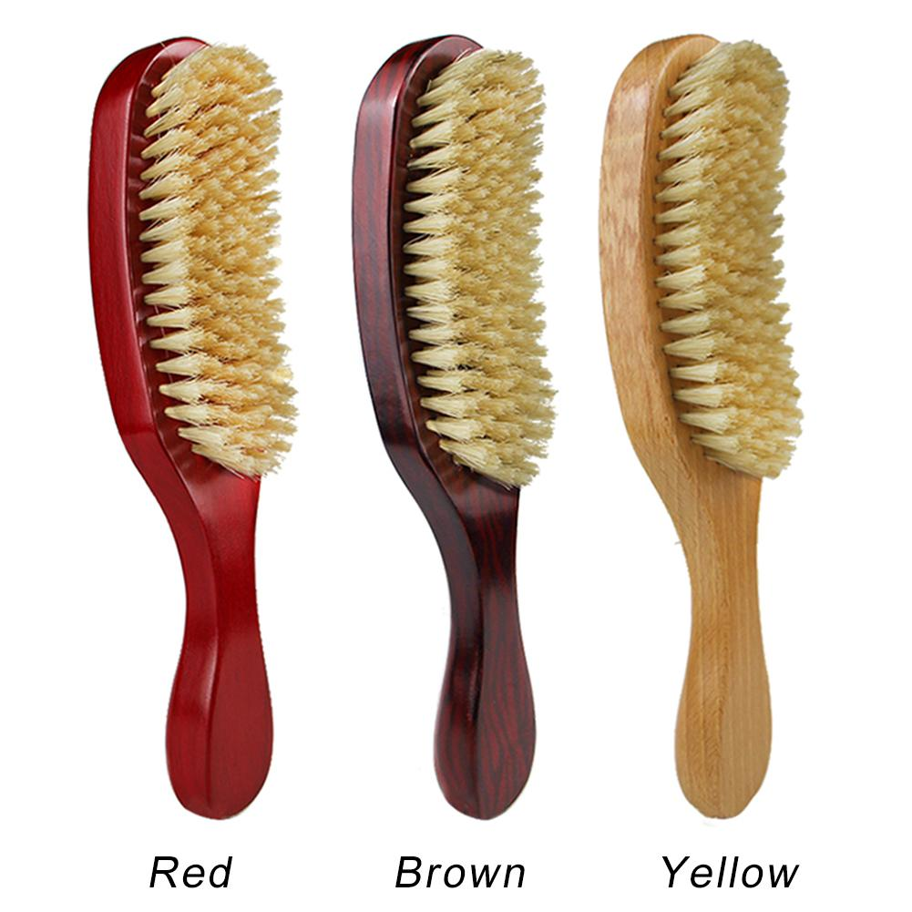 Natural Bristle Hair Wooden Beard Hair Style Care Comb Curling Hair Wave Brush 100% Brand New Classics And Fashion