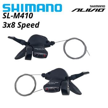 Shimano-desviador de bicicleta M410, 7, 8 S, 21S, 24S, MTB, FD-M410, SL-M