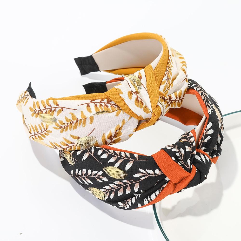 Haimeikang Fashion Knotting Printing Bezel Head Hoop Headwear For Women Girl Wide-brimmed Headband Hair Accessories Headdress