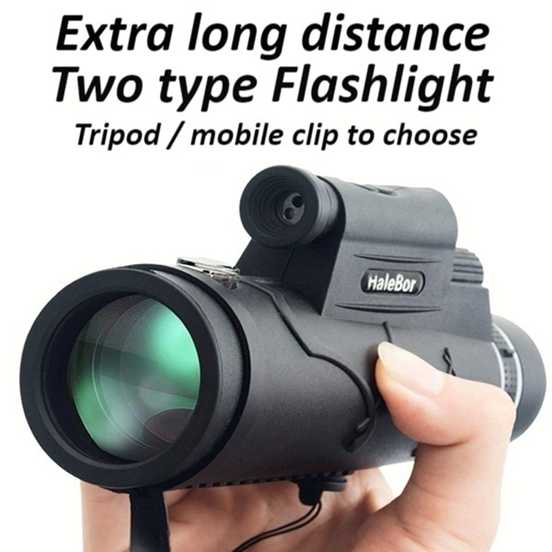 Extra Long  9800M/300000M Compass Flashlight+infrared Distance Night Vision High - Angle Monocular Outdoor Travel Telescope