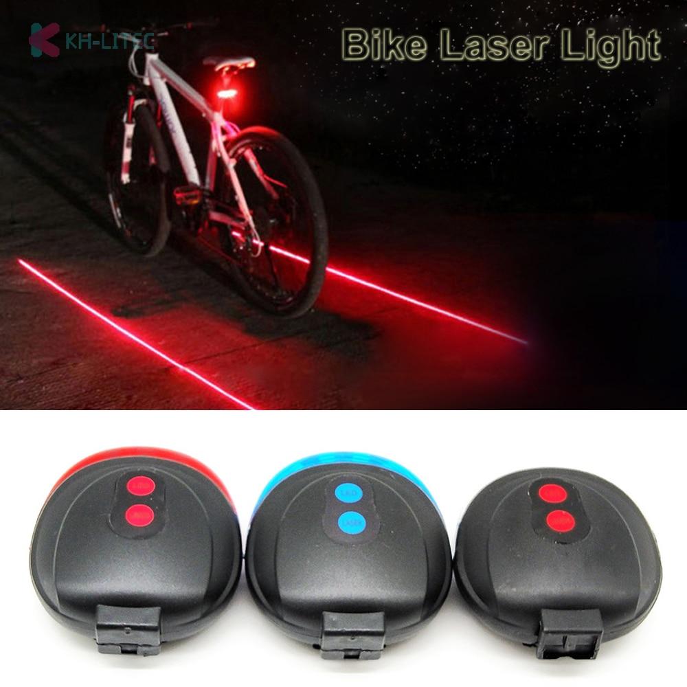 KHLITEC Bike Laser Light Taillight 6 Modes 2 Laser Safety Warning Light Tail Light Turn Signal Bicycle Luces Bicicleta Bisiklet title=