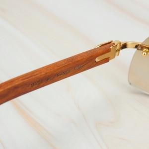 Image 5 - עץ ללא מסגרת רטרו משקפי שמש גברים נשים משקפיים שמש נהיגה דיג יוקרה קרטר משקפיים מסגרת עץ משקפי שמש זכר