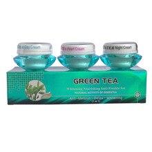 Отбеливающий крем для лица зеленый чай питательный крем против веснушек против морщин
