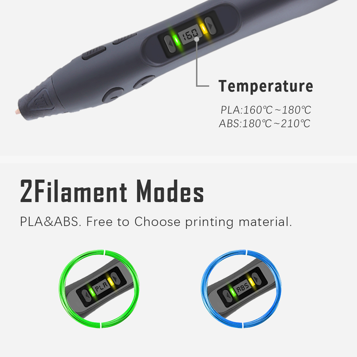 SL-300 3D Printing Pen With Power Adapter And USB Cable Birthday Gift for Children