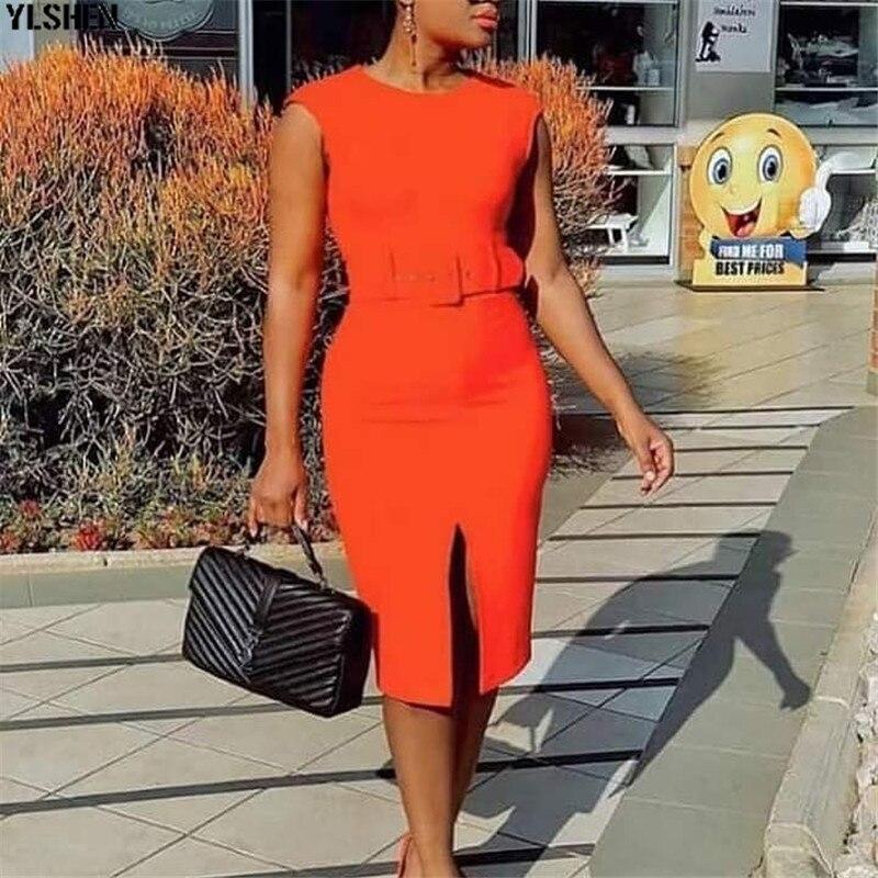 African Dresses For Women Dashiki 2019 New African Clothes Summer Bazin Sexy Slim Sleeveless Robe Africain Grown Africa Dress