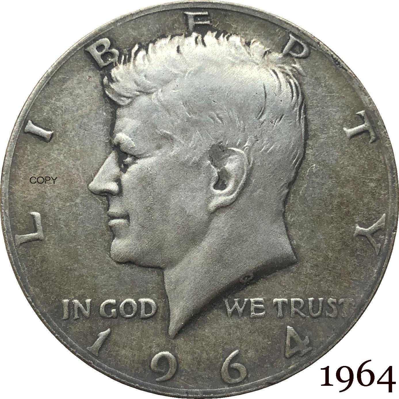 Соединенные Штаты Америки 1964 свобода 1/2 Кеннеди США половина доллара в Бог мы доверяем E multibus Cupronickel Посеребренная копия монеты
