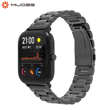Band For Huami GTS 2 Amazfit Bip Strap 20mm Stainless Steel Metal Replacement Wrist Strap For Xiaomi Huami Amazfit BipS GTS Band