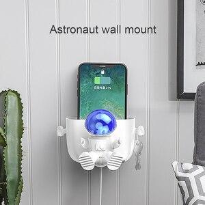 Image 2 - OATSBASF الحائط حامل هاتف قاعدة شحن المحمول مكافحة سقوط السرير الحمام لصق نوع رف الجدار لهواوي شاومي