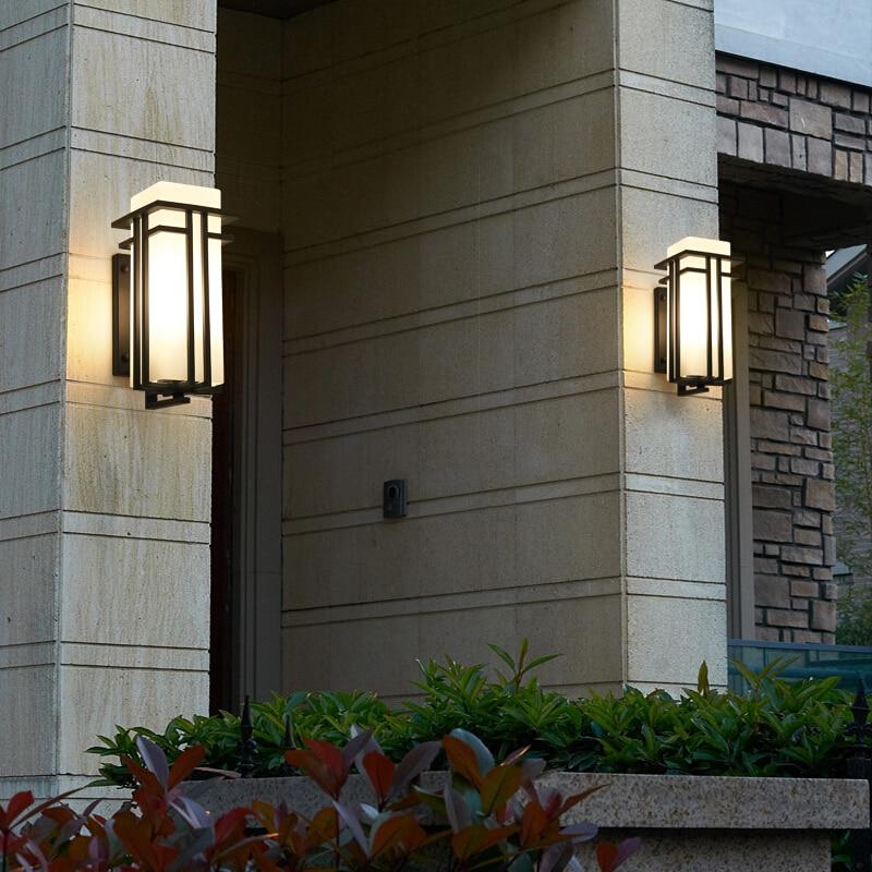 Новый корейский Ретро Открытый водонепроницаемый настенный светильник Европейская вилла настенный светильник водонепроницаемый