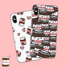 Lustige lebensmittel Schokolade Nutella Gedruckt Pizza Französisch frites Telefon Fall für iPhone 6S 6plus 7 8 7 8 plus X Xs MAX 5 5S XR 11 pro max
