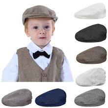 Bebê meninos espinha de peixe chapéu liso crianças motoristas do vintage chapéu da criança macio com forro boné infantil grosso inverno quente acessórios