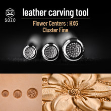 Stainless Steel  leather craft flower core Decorative pattern Stamp Tool