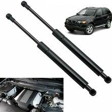 2 шт. Автомобильный газовый подъемник поддерживает капоты стойки шок передняя капота ботинок для BMW-X5 E53 2000-2006 51238402551