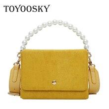 TOYOOSKY Fashion Female Shoulder Bag Nubuck Leather women Composite handbag Vintage Multifunction Chest Messenger Crossbody Bags