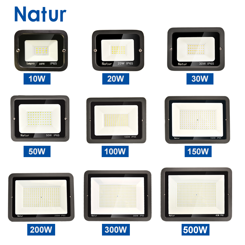 Foco 10W 20W 30W 50W 100W 150W 200W 300W 500W Reflector Led al aire libre IP65 foco Led reflector LED Luz de jardín