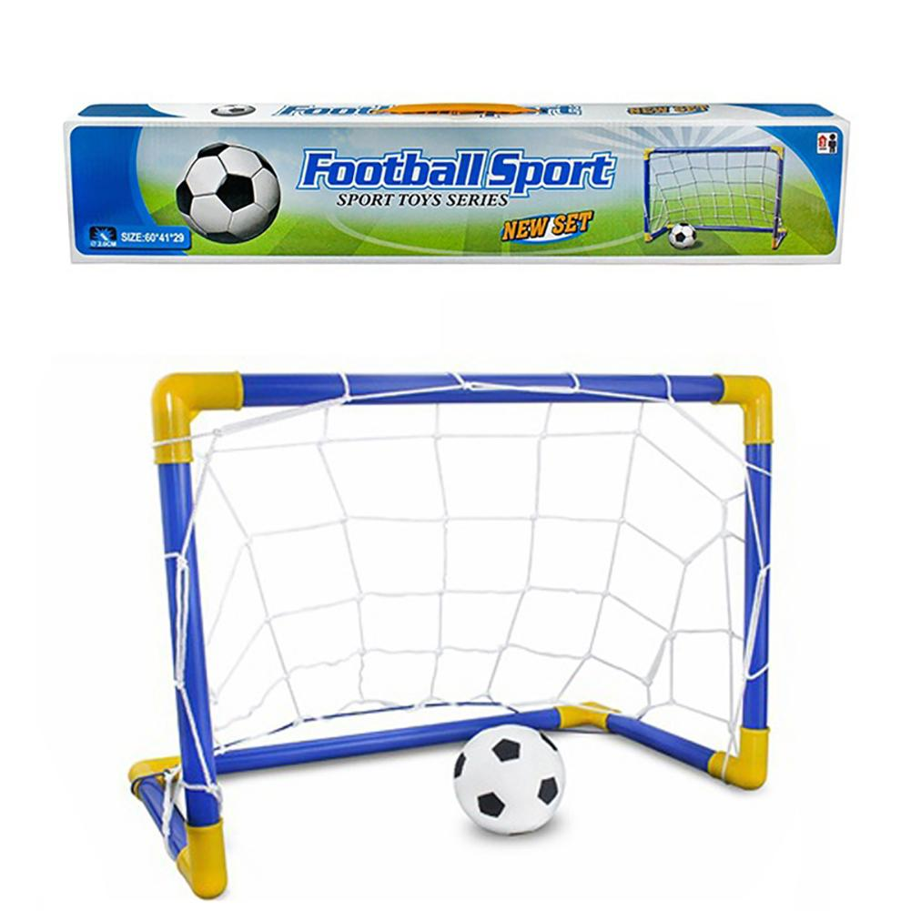 Outdoor Children Toy DIY Assembled Football Goal Soccer Shooting Game Set Gift