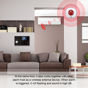 Image 5 - Indoor Horn Siren 433MHz Wireless Flashing Strobe Siren Light Siren for WIFI GSM Home Alarm Security System Red Color