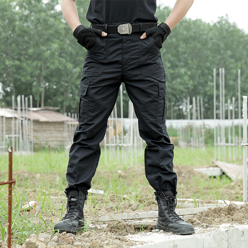 Black Cargo Pants Army Military Tactical Pants Men Work Pantalones Combat SWAT Tactical Clothes Camo Overalls Casual Trouser