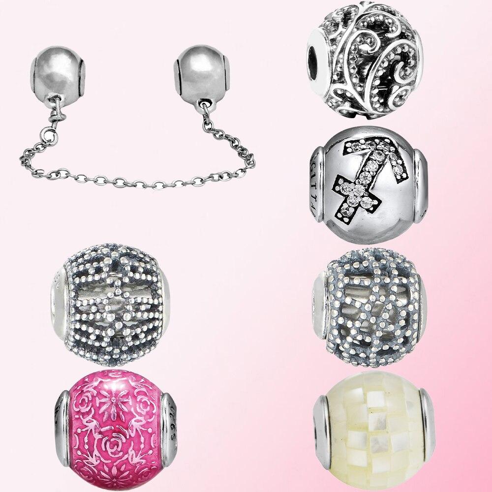 2019 100% 925 Sterling Silver Classic Freedom Generosity Sagittarius Women's Bead Charm Personality Jewelry Free Shipping