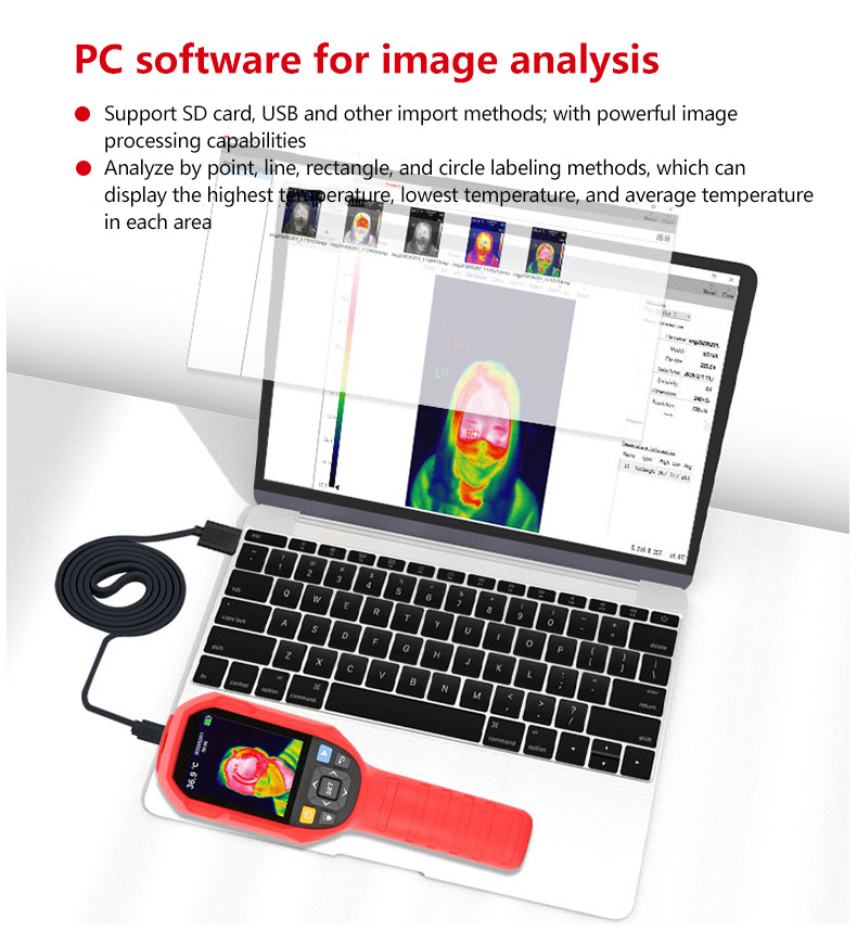 Mini Infrared Thermal Imaging Camera With Type-C USB Interface for Lithium Battery Charging 12
