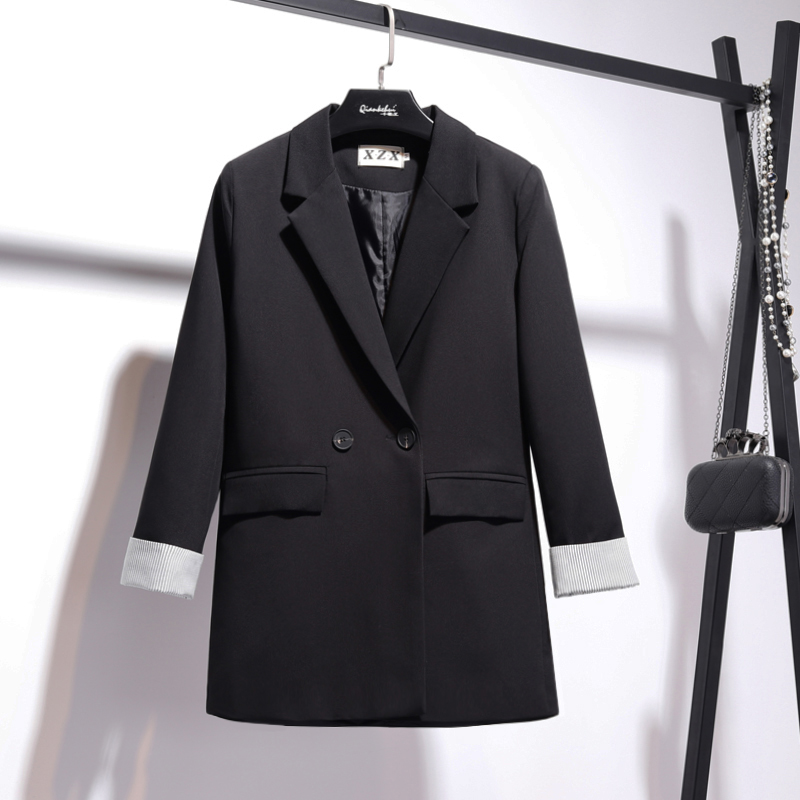 Temperament retro women's jacket suit Autumn new double-breasted slim long-sleeved blazer female Office jacket high quality 2019