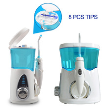 Water Pulse Dental Flosser Oral Irrigator 600ml Dental Irrigator Water Jet Powerful Flosser or 8Pcs Replacement Nozzles Tips цена и фото